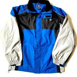Champion Jacket black blue grey Small unisex